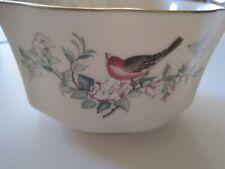 Lenox Serenade Fluted Small Bowl - Ivory Birds Flowers 24K Gold-New