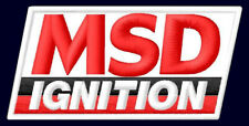 """MSD IGNITION EMBROIDERED PATCH ~3-1/4""""x 1-3/4"""" DRAG RACING COIL WIRES SYSTEMS #2"""