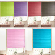 Roller Half Blackout Sunscreen Pleated Window Blind Curtains Shade Self-Adhesive