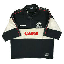 Vtg 90s Sharks South Africa Rugby Union Shirt Jersey Reebok Size XXL Adult