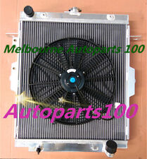 For Landcruiser radiator+Fan HDJ78 HDJ79 HZJ78 HZJ79 1HZ 4.2L Manual Aluminum
