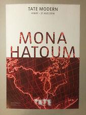 Mona Hatoum, cartel litográfico exposición, 2016