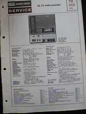 ORIGINALE servizio manuai ITT SCHAUB-LORENZ SL 75 Radio Recorder