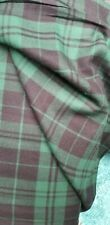 Brushed cotton Black green Tartan  Fabric 150cm wide sold by the metre