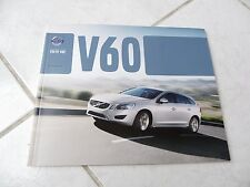 Volvo V60 2013 60 pages catalogue brochure dépliant prospekt catalog commerciale