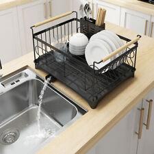 1 Tier Stainless Steel Kitchen Shelf Dish Drying Rack Storage Tableware Stand