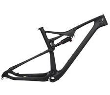"""29er 21"""" Mountain Bike Full Suspension Carbon Frame Rockshox shock Matt MTB XL"""