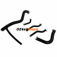 Silicone Radiator Cooling Hose Pipes Kits For MG MGB GT 1976-1980 77 78 BLACK