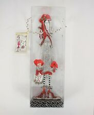 """Silvestri Dolly Mamas 16.5"""" White Red Jingle This Standing Shelf Sitter New"""