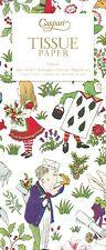 Alice in Wonderland in a Winter Garden Christmas Caspari Tissue Wrap 4 Sheets
