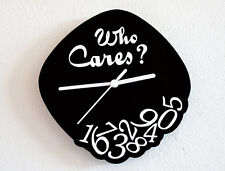 Who Cares - Outlined - Novelty Gift - Custom Name Wall Clock
