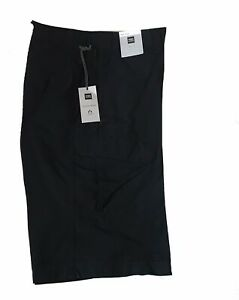 M&S Mens W-32 Cotton Cargo Navy Shorts