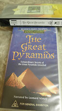 "READER'S DIGEST ANCIENT MYSTERIES ""THE GREAT PYRAMIDS"" vhs video tape BN"