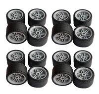 ☀️NEW Lego 16x Technic Wheels 37x22 Tires ZR GRAY Wheels 56145 55978 lot