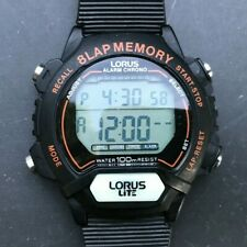 LORUS Lite W650-4000 (by Seiko) 100M H2O 8-Lap Memory 41mm watch - New battery