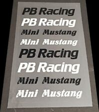 Vintage PB Racing Mini Mustang Reproduction Decal Sheet 1:10