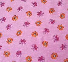 Summer Garden Kate Knight BTY Quilting Treasures Floral Aqua Orange on Pink