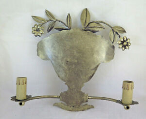 Wall Wrought Iron Forged by Hand Made Floral Period '900 CH18