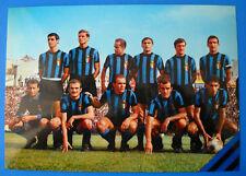 CARTOLINA UFFICIALE CALCIO SQUADRA INTER 1966/67 - cm.15x21