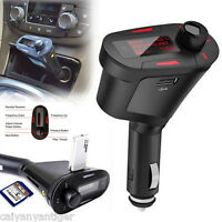 Car Kit MP3 Player Wireless FM Transmitter Modulator USB SD MMC Card With Remote