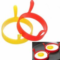 1x Silicone Round Omelette Fry Egg Ring Pancake Poach Mold Kitchen Cooking Hot