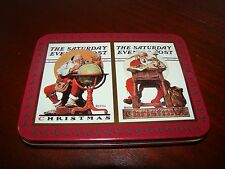 Norman Rockwell Christmas Card Set in Special Tin - 1996 Nostalgic Playing Cards