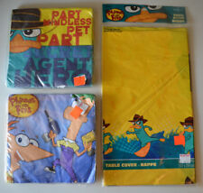 Phineas and Ferb  ~ plastic TABLE COVER & + Birthday Party Supplies Decorations