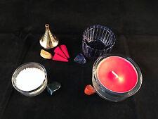Pagan Altar Element/Quarters Set/Kit- Crystals, Bowls, Tea Light & Cones (EAFW2)