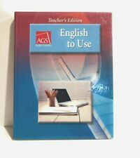 English to Use By AGS Publishing Teacher's Edition  - Hardcover