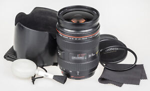 Canon 24-70mm f/2.8 EF L USM lens | +hood, UV, pouch, airpump | good condition