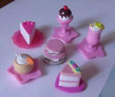 Lote Barbie Sweet Treats Postres Pastel Helado Sundae Tiki Bebidas