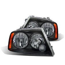 CG Lincoln Navigator 03-05 Headlight Black Amber