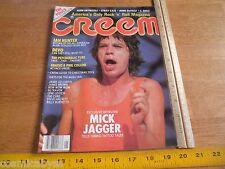 CREEM 1982 magazine Mick Jagger Ian Hunter DEVO Genesis Stray Cats The Police