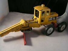 OLD VINTAGE COLLECTIBLE ORANGE HUBLEY ROAD GRADER TRACTOR TOY DIESEL DIECAST USE