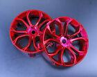 Tetsujin Wheels DEEP SPIDER Inserts Adjustable Offset 3-6-9mm -CHROME RED- 4 PC