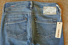 DIESEL RONHAR 008JS Sexy JEANS 24X30 NWT$200 Distressed ITALIAN! Bootcut Stretch