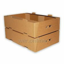"""How Many? 1 x Cardboard Vegetable Fruit Box Produce Storage Tray 22x 15x 5.5"""" SW"""