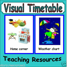 VISUAL TIMETABLE  CD KS1 EYFS SEN  teaching resources display Classroom new term