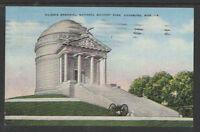 1942 ILLINOIS MEMORIAL NATIONAL MILITARY PARK VICKSBURG MISS POSTCARD