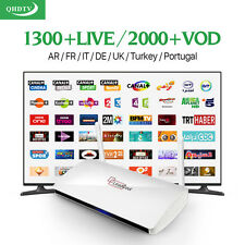 ARABIC TV BOX IPTV +1300 HD CHANNELS!  Arabic TV box Included Live Sports QHDTV!