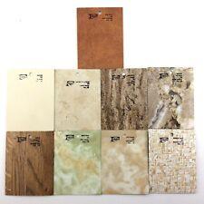 9 Vintage 1970s Melamine Countertop Sample Tiles Formica Q822