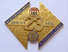 Plakette Badge Kühler Autoplakette --Automobil Sternfahrt Plakette Meran 1976--