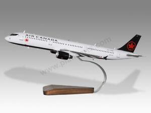 Airbus A321 Air Canada Solid Kiln Dried Mahogany Wood Handcrafted Display Model