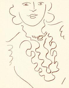 Henri Matisse lithograph from Florilege des amours de Rosnard 64337