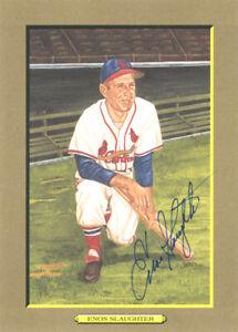 Enos Slaughter Autographed Signed 1988 Perez-Steele Postcard Cardinals #138408