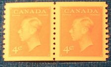 CANADA MINT NEVER HINGED PAIR OF COIL STAMPS SCOTT # 309 ** KGVI ***