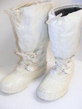 SOREL WHITE SNOWCAT BOOTS APRES SKI SNOW Winter Thick Wool Insulated Womens Sz 8