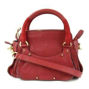 SEE BY CHLOE 2way hand shoulder bag leather Red Used crossbody