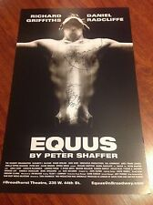 EQUUS SIGNED THEATER POSTER DANIEL RADCLIFFE RICHARD GRIFFITHS HARRY POTTER