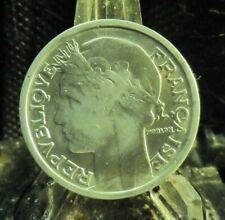 CIRCULATED 1941 2 FRANCS FRENCH COIN (80819)1...FREE DOMESTIC SHIPPING!!